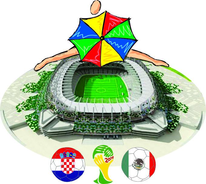 Arena Peranmbuco - Croácia x México