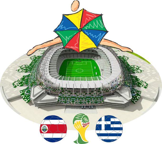 Arena Pernambuco - Costa Rica X Grécia