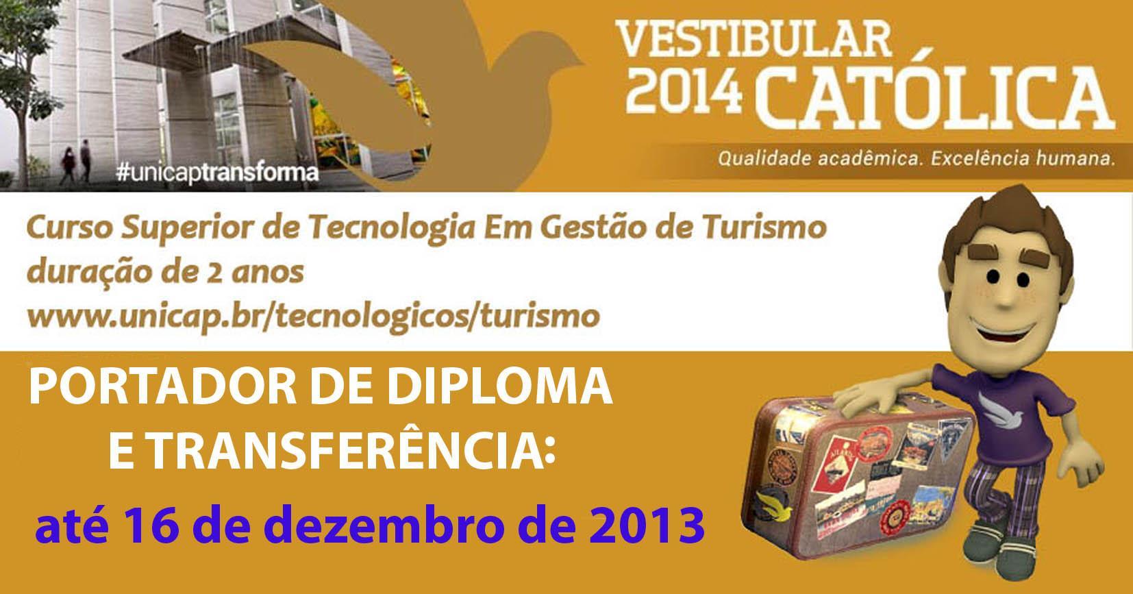 vestibular 2014 portador e transferidos_TURISMO