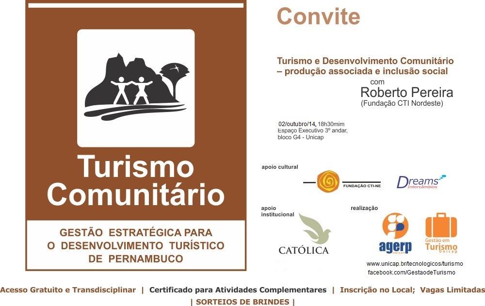 Dia do Turismo 2014_Unicap Turismo e Desenvolvimento Comunitário_Cartaz