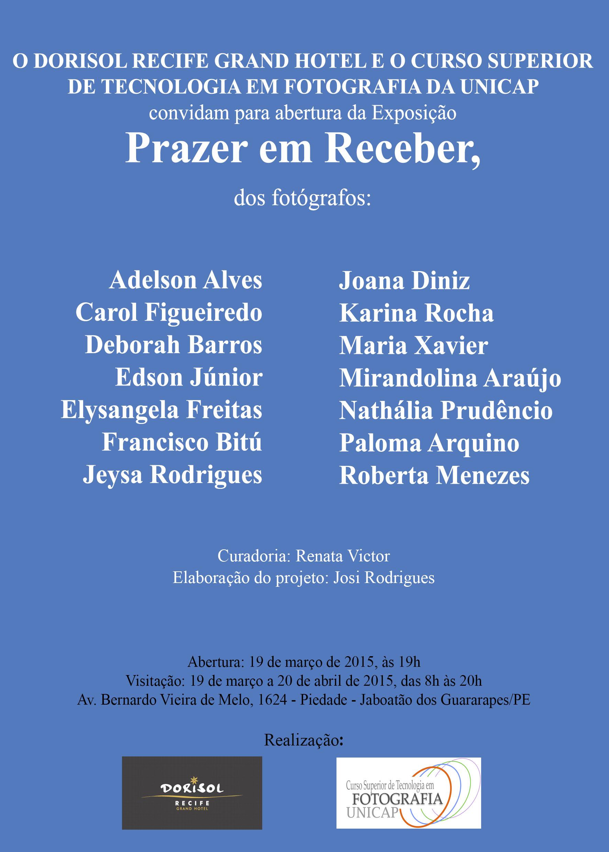 Convite Exposição Prazer em Receber Hotel Dorisol