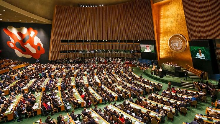 Nova Iorque - EUA, 28/09/2015. Presidenta Dilma Rousseff durante abertura do Debate de Alto Nível da 70ª Assembleia-Geral das Nações Unidas. Foto: Ichiro Guerra/PR